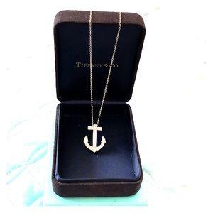 Tiffany & Co diamond anchor necklace